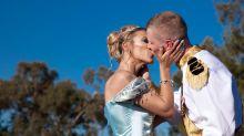 Bride ties the knot in every Disney fan's dream fairytale wedding