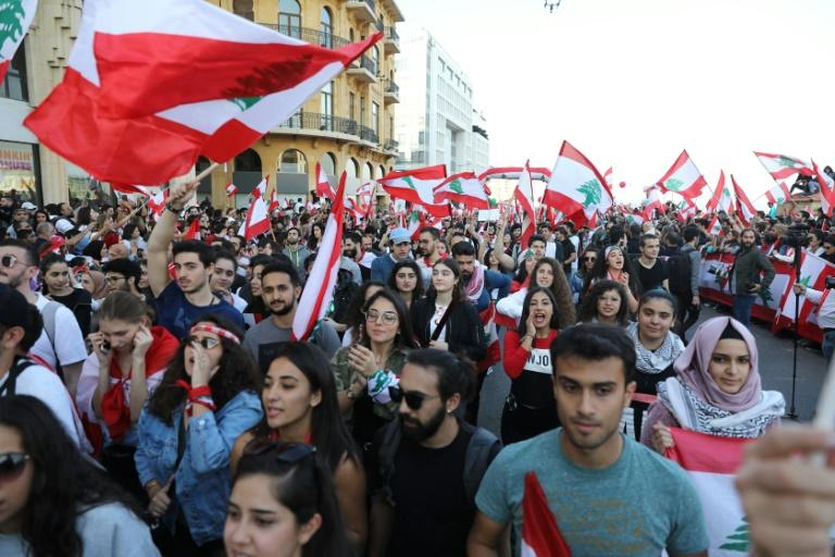 Lebanon's protests have brought together people of all ages from across the political spectrum tired of what they describe as sectarian politics three decades after a bloody civil war (AFP Photo/ANWAR AMRO)