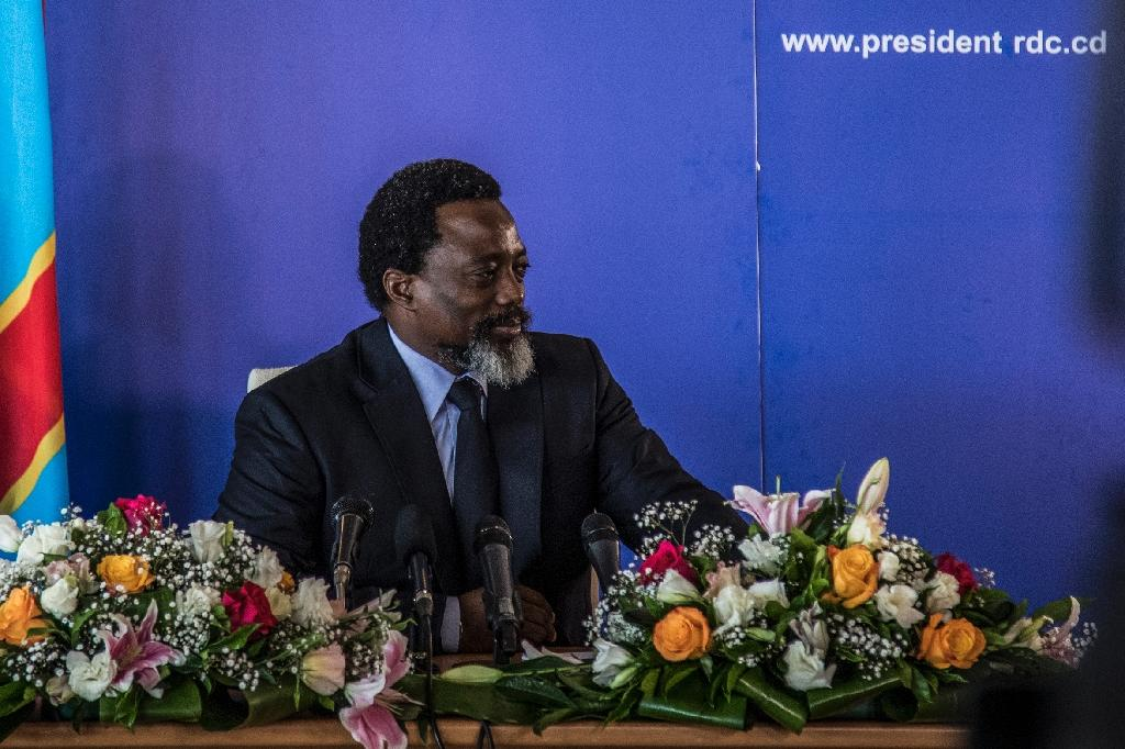 President of the Democratic Republic of Congo Joseph Kabila, pictured in January 2018, has received calls from the US, France and Britain to clearly state that he will step aside and allow for a peaceful transfer of power in December