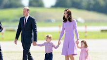Duke and Duchess of Cambridge arrive in Scotland with George, Charlotte and Louis