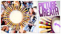 Clothespin Picture Wreath - Do It, Gurl