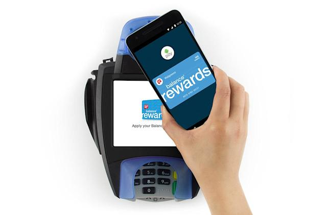 Android Pay automatically adds Walgreen loyalty points