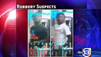 Two wanted in attack, robbery of woman at bus stop