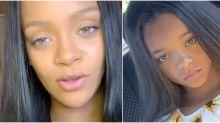 Rihanna descobre sua versão mirim e choca seguidores: 'Você teve uma filha?'