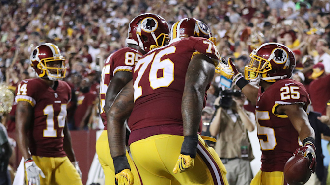 Watch live: Redskins routing Raiders