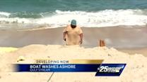 Mystery boat washes ashore in Gulf Stream