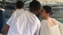 Kylie Jenner Snuggles Up to Travis Scott in Father's Day Tribute: 'So Blessed to Have You'
