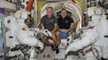US astronauts pack up for rare splashdown