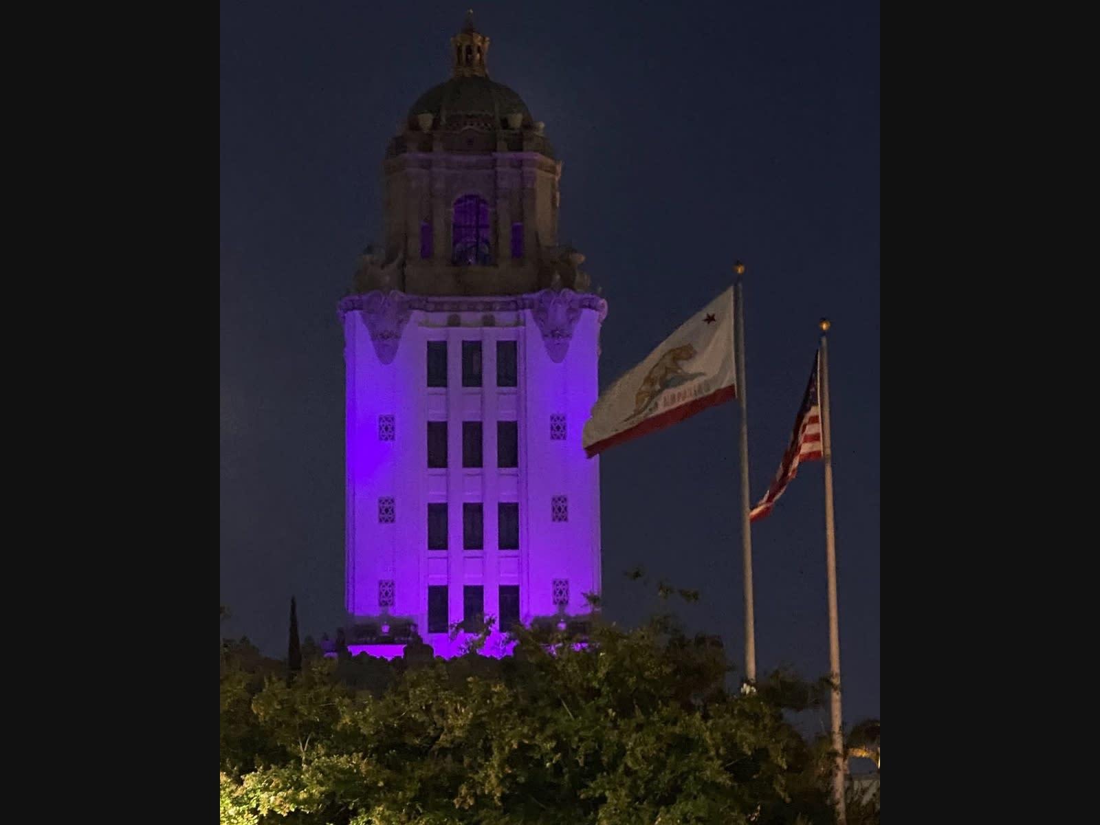 Beverly Hills City Hall on Aug. 31.