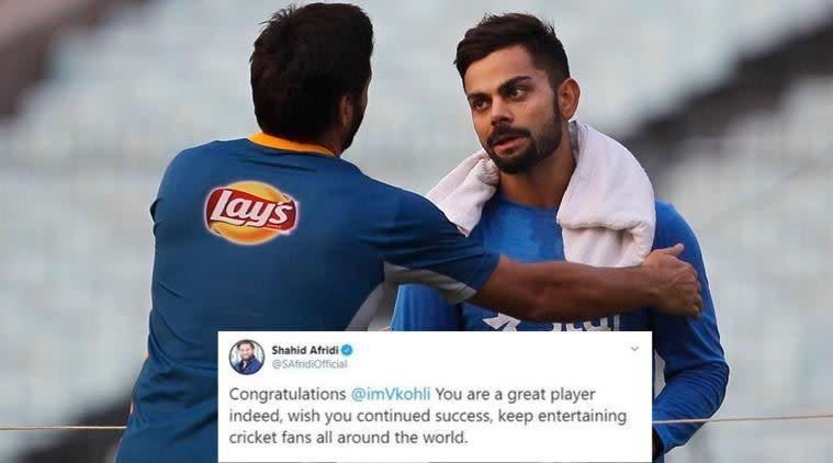 Shahid Afridi praises Virat Kohli, calls him 'great player'