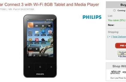 Philips' Android-based GoGear Connect PMP now available for pre-order