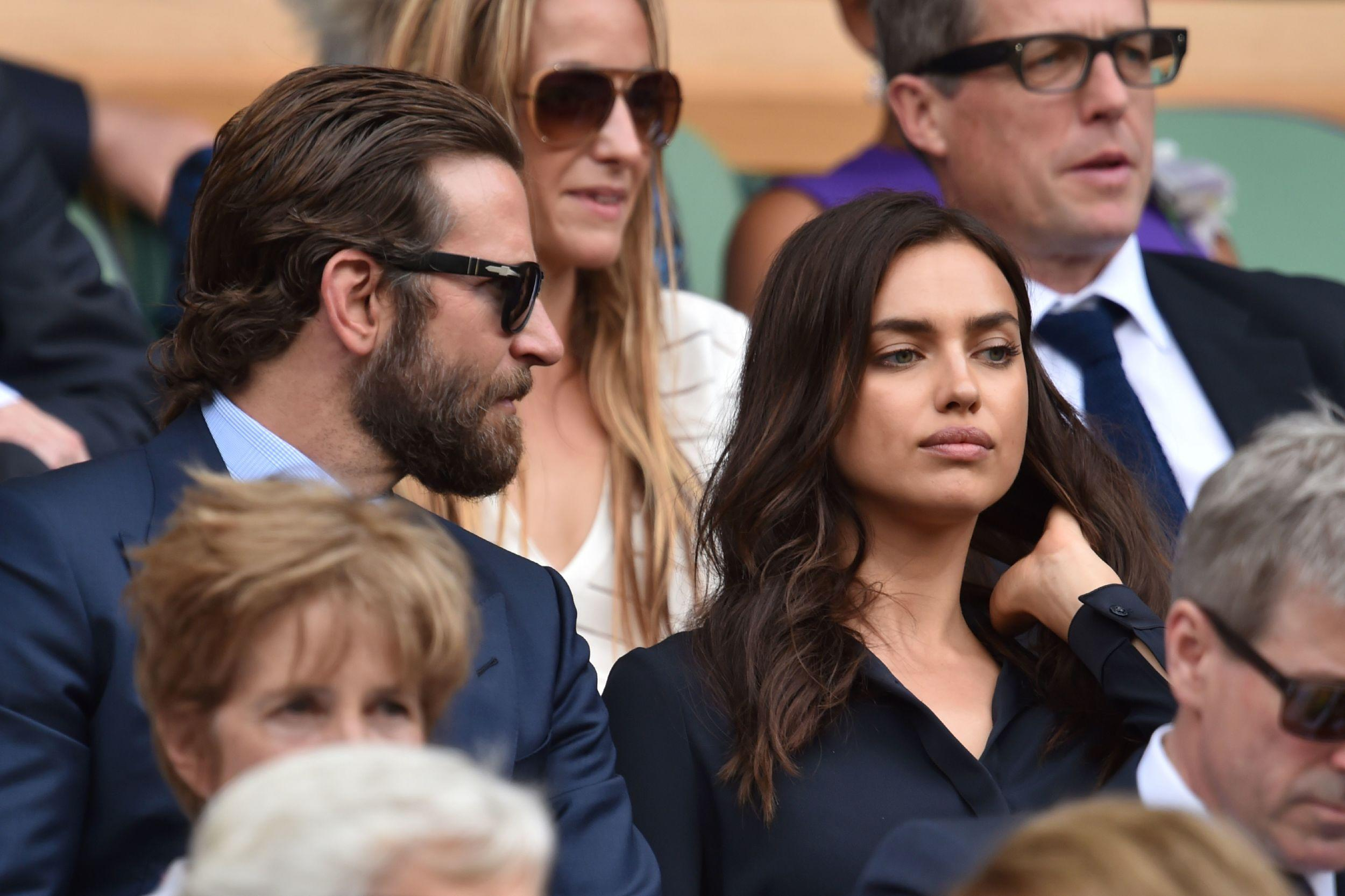 US actor Bradley Cooper and Russian model Irina Shayk.