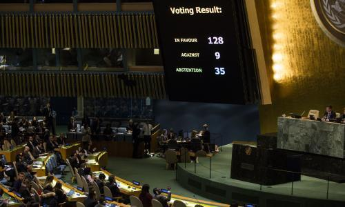 UN votes resoundingly to reject Trump's recognition of Jerusalem as capital