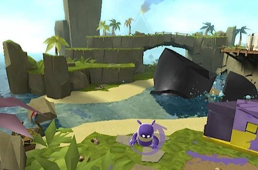 Check out de Wii and DS versions of de Blob 2