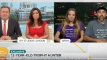 Piers Morgan challenges 12-year-old trophy hunter