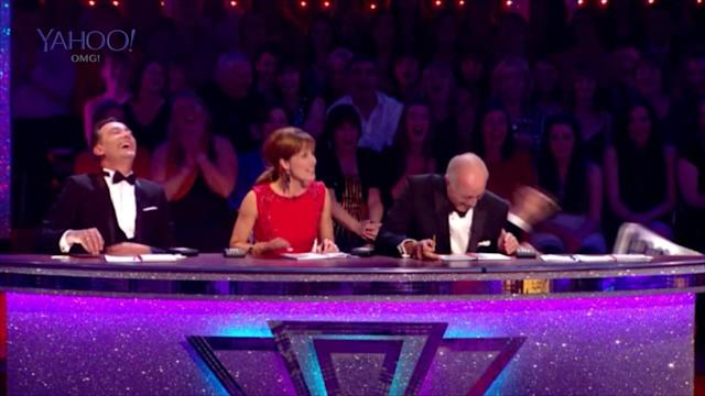 *WATCH* Strictly Come Dancing judge Bruno Tonioli falls off chair!