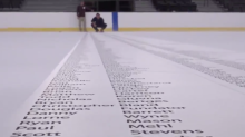 Golden Knights print season-ticket names on ice for first season