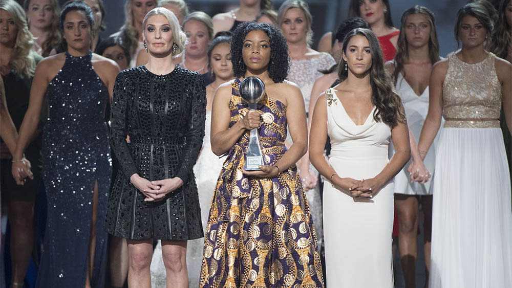 ESPY Awards Honor Team USA, MSU Gymnastics Sex Abuse Survivors: 'We May Suffer Alone, But We Survive Together'