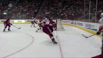 Mikael Backlund puts in the redirect in front