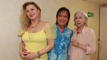 Vera Fischer e Fernanda Montenegro posam com Roberto Carlos