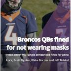 All 4 QBs fined for not wearing masks