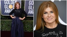 Connie Britton defends her $475 Golden Globes 'Poverty Is Sexist' sweater