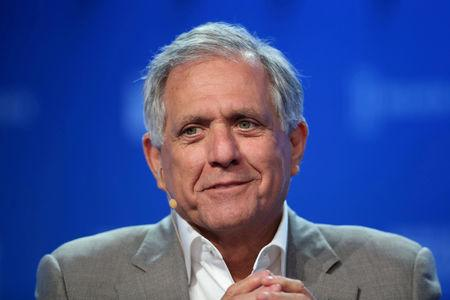 Moonves speaks during the Milken Institute Global Conference in Beverly Hills