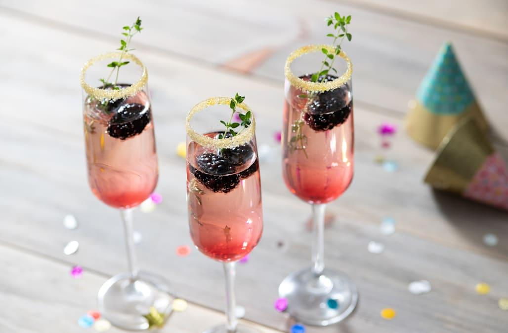 Cocktail of the Week: Blackberry Thyme Sparkler