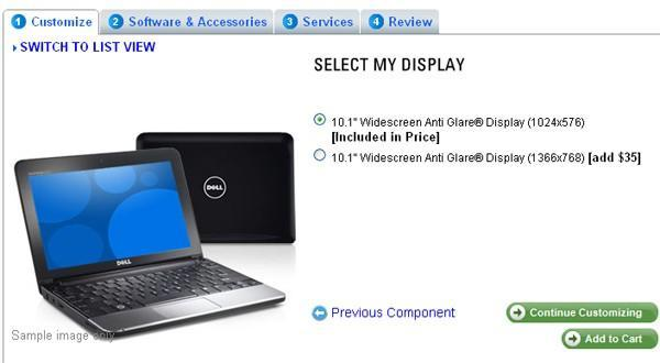 Dell finally adds 720p LCD option to Inspiron Mini 10