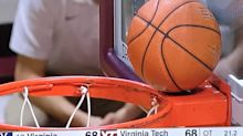 Virginia falls after potential tie-breaking layup gets stuck on back rim