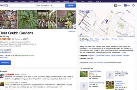 Yahoo now shows Yelp reviews when you're searching for local businesses