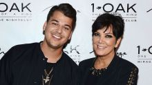 Rob Kardashian looks unrecognisable in Kris's throwback post