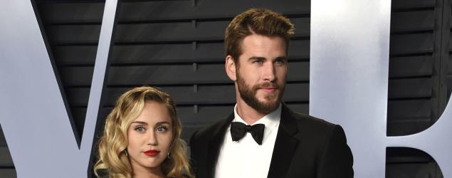 Miley Cyrus, Liam Hemsworth (AP)