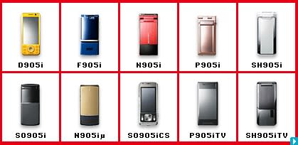 NTT DoCoMo's FOMA 905i handsets on the loose in Japan