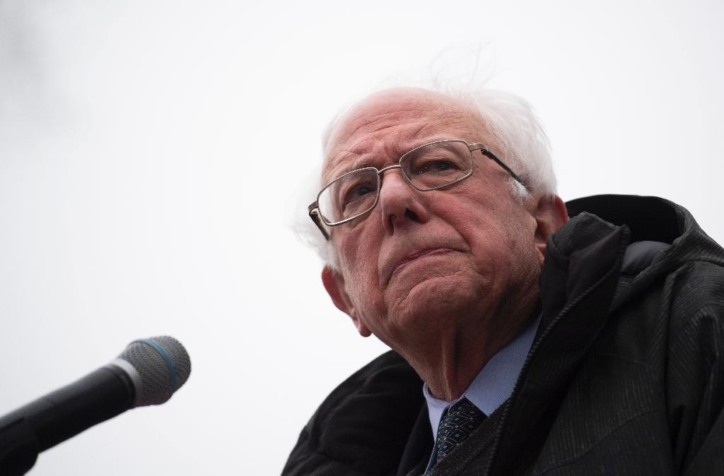 Senator Bernie Sanders is the oldest US presidential candidate of the lot, and would be 79 on Election Day 2021 (AFP Photo/Johannes EISELE)