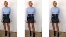 Holly Willoughby dons leather mini skirt, sends fans crazy