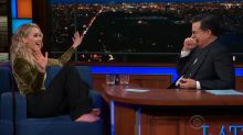 Drunken Jennifer Lawrence interview with Stephen Colbert will make you love her even more