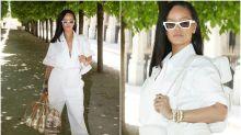 El look futurista (y masculino) de Rihanna en París