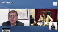 """Cruce. La irónica respuesta de Cristina Kirchner a Luis Naidenoff: """"Puede hablar 85 minutos, senador"""""""