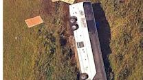 Raw: Bus from Canada overturns on NJ exit ramp