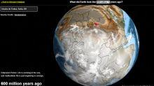 O mapa interativo que permite viajar no tempo e ver 'sua cidade' há 600 milhões de anos
