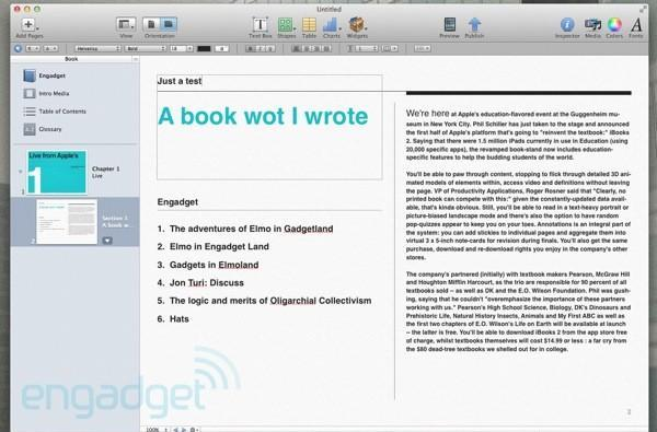 Apple's iBooks Author hands-on (update: video!)