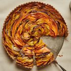This Caramelized Onion and Squash Tart Is the Vegetarian Stunner Your Thanksgiving Table Needs
