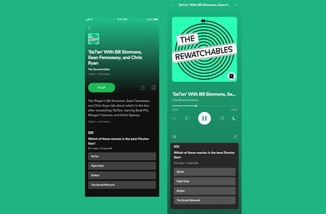 Spotify is testing polls to make podcasts more interactive