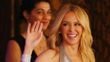Kylie Minogue, glamurosa y con brillos en Melbourne