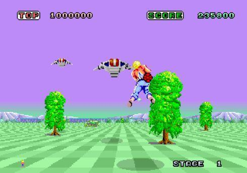 Space Harrier flies into Virtual Console