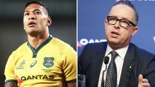 Ugly Israel Folau twist in Qantas' split with Rugby Australia
