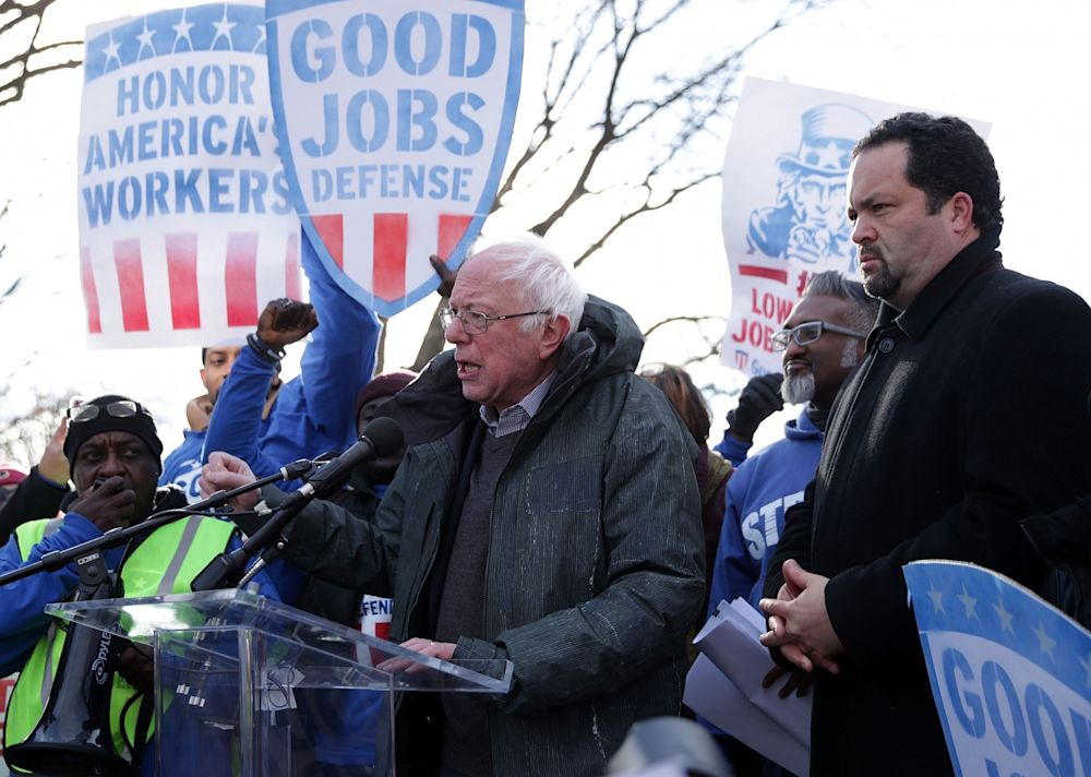 Bernie Sanders with Ben Jealous