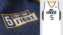 The Utah Jazz's jersey patch will count as a sponsorship drive for a cancer research charity