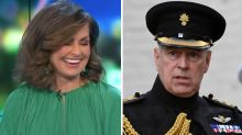 Lisa Wilkinson cracks up at Prince Andrew joke on The Project